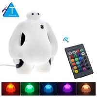 Big Hero 6 LED Night Light BayMax Lamps AC220V RGB Warm White Kids Gift Bedroom Home