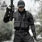 Chaleco de caza de camuflaje para hombre, equipo militar, Airsoft, uniforme militar, Chaleco de combate, Colete Tatico, Chaleco del ejército, negro - 1