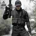 Colete tático dos homens de caça equipamento militar airsoft militar uniforme combate colete colete tatico chaleco colete do exército preto