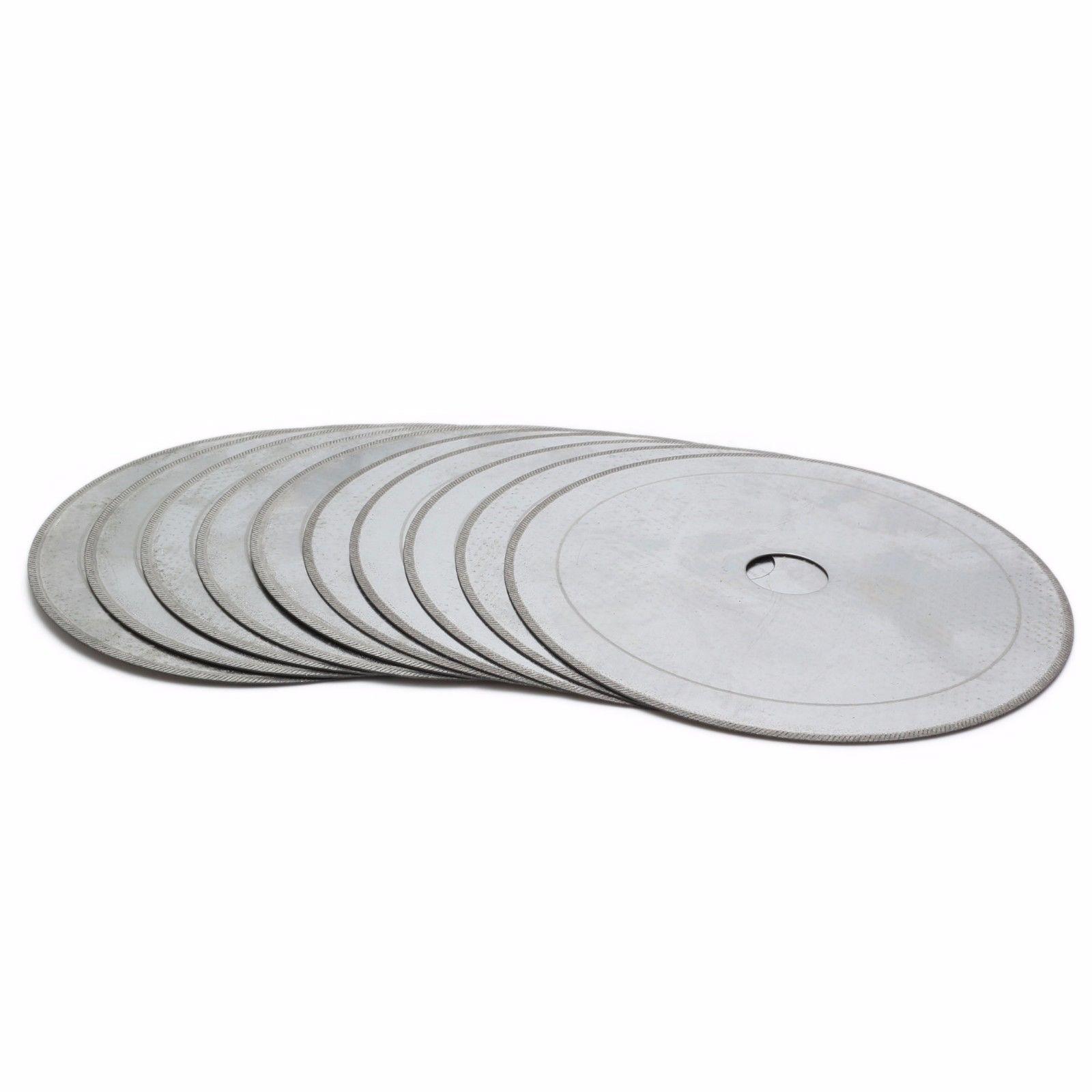 """10 Uds 4,5 """"disco de corte fino de hoja de sierra de diamante lapidario 5/8"""" borde de árbol 0.017 """"ILOVETOOL"""