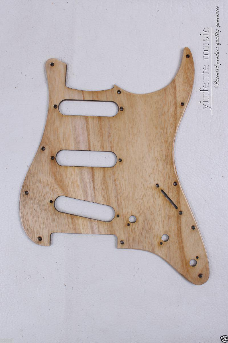New ASH wood Electric Guitar Pickguard SSS For Strat Electric Guitar parts #1827