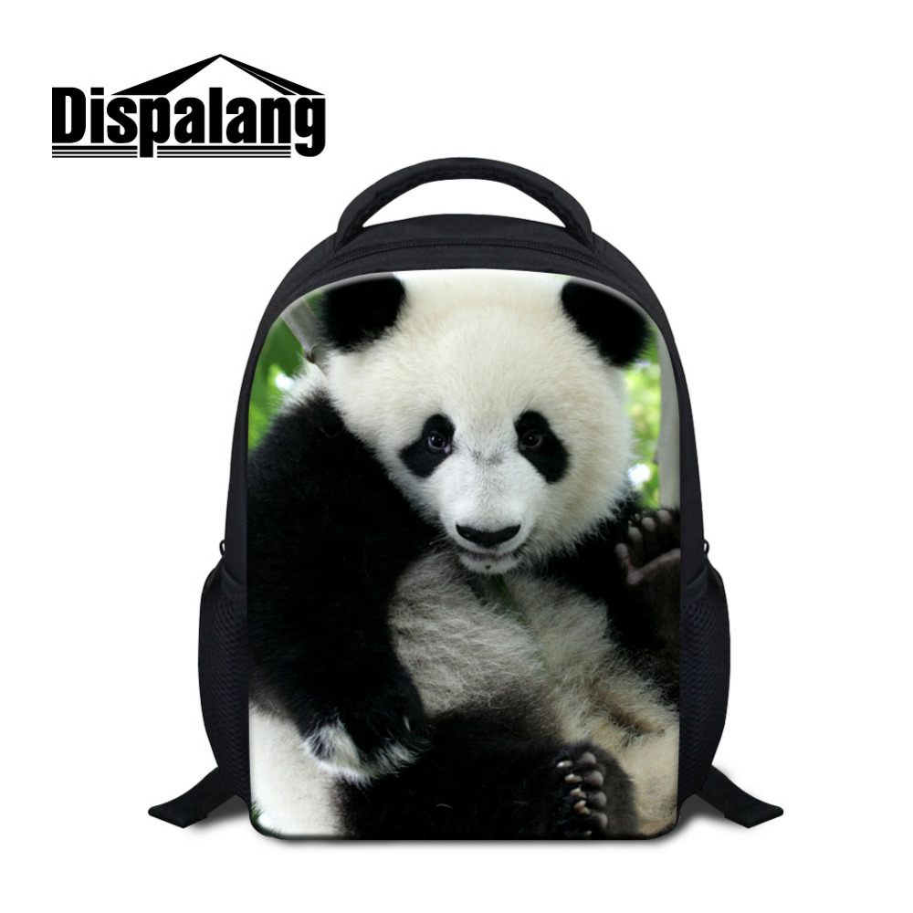 Dispalang Cute Panda Print Small School Bags For Girls Boys Children Mini Backpack For Kindergarten Baby Book Bag Kids Mochila
