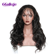 CCollege Hair Lace Front Human Hair Wigs Natural Color Brazilian Body Wave Remy Hair Lace Wigs For Black Women With Baby Hair