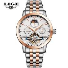 Relojes часы мужчин лучший бренд роскошных lige Tourbillon автоматические механические часы мужские модные спортивные наручные часы Relogio Masculino