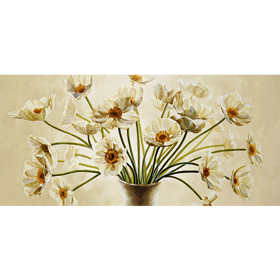 White Flowers Narcissus Canvas Painting Print Picture for Kitchen ...