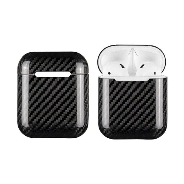 Carbone fibre Cas pour Airpods Portable Cas couvercle de protection Pour Airpods Anti Perdu Carbone fibre sac pochette pour Apple Airpods