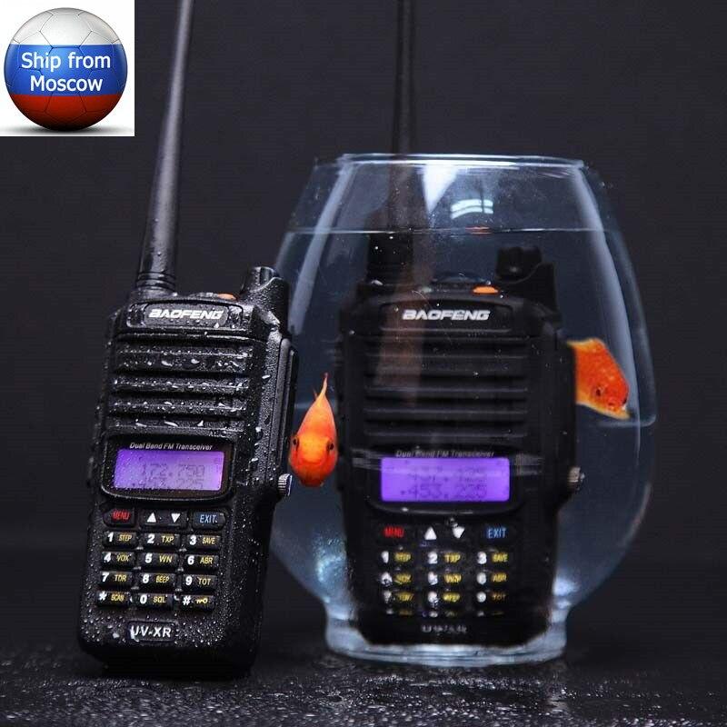 Baofeng UV-XR 10 watt 4800 mah Batterie IP67 Wasserdichte CB portable Two Way Radio set Handheld 10 km Lange Palette leistungsstarke Walkie Talkie