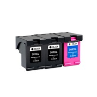 YLC 3pc 301XL Compatible For HP301XL ink cartridges for HP Deskjet 1000 1010 1050 1050A 2510 2514 2540 2542 2547 printer