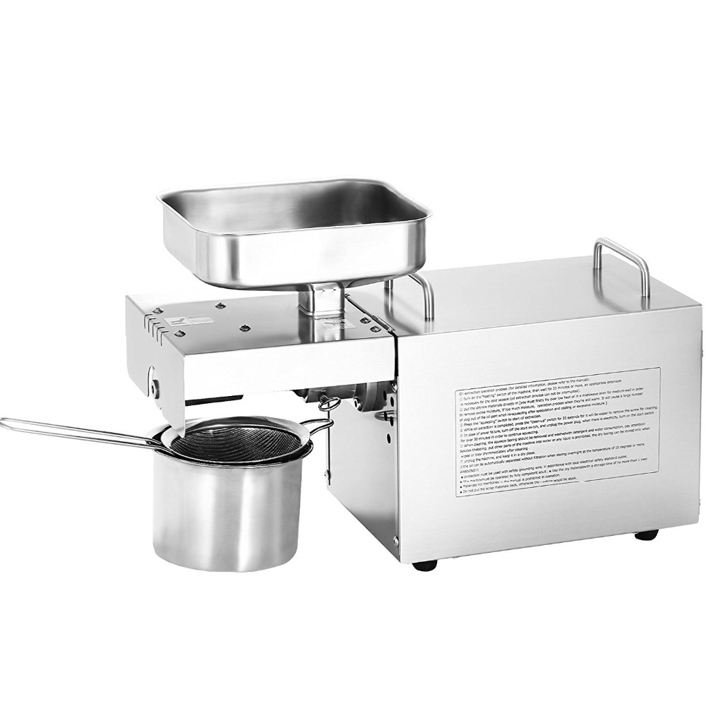 Stainless Steel Mini Oil Press Machine For Seed, Nut Peanut,Coconut Commercial Grade Oil Extraction Expeller Presser 110v or 220v oil press machine nut seed automatic stainless all steel presser high oil extraction