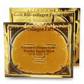 10pcs/lot  Gold Bio-Collagen makeup Face Mask Anti-aging mask to face Crystal Gold Powder Collagen Facial Mask Moisturizing