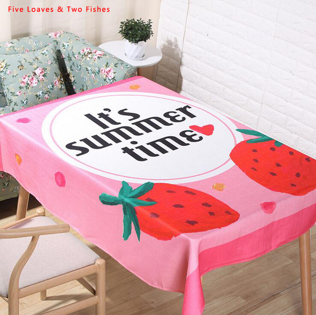 Merveilleux Free Shipping Colorful Fruit Tablecloths Cotton Linen Tablecloth  Rectangular Table Cloth Unique Table Cover Manteles