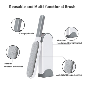 Image 3 - Pet Hair Remover Brush Reusable Double Side Dog Hair Lint Remover Brush Portable Magic Fur & Dust  Cleaning Furniture Pet Brush