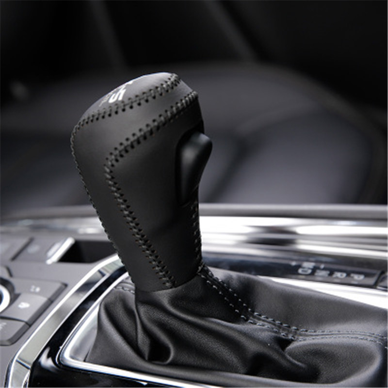 Car <font><b>accessories</b></font> Car PU interior gear cover Hand sewing gear cover For <font><b>Mazda</b></font> CX-5 2017 2018 <font><b>2019</b></font> Second generation Car styling image