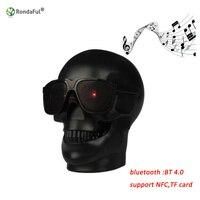 Skull Shape Wireless Bluetooth Speaker Sunglass Skull Speaker Mobile Subwoofer Multipurpose Speaker Music Column Loud Speaker