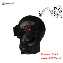 Череп Форма Беспроводной Bluetooth Динамик солнцезащитных очков череп Динамик мобильный сабвуфер многоцелевой Динамик колонки музыку громко Динамик