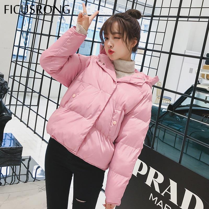 Causal Slim Thick Female Jacket Women Coat Warm Winter Jacket Women Down Parkas Cotton Padded Jacket FICUSRONG 2019 New