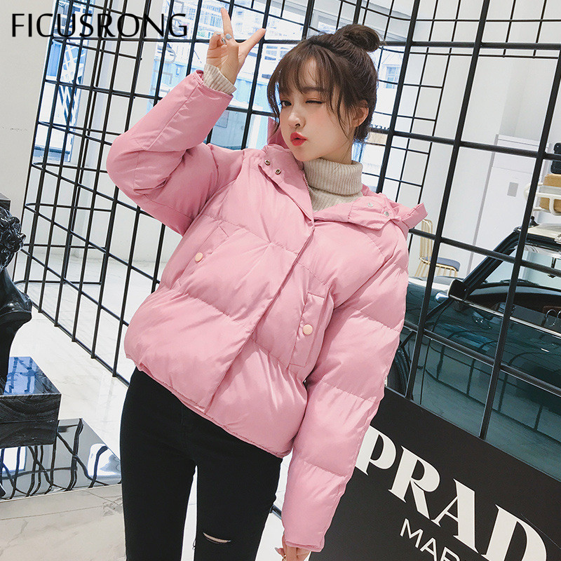 Causal Slim Thick Female Jacket Women Coat Warm Winter Jacket Women Down   Parkas   Cotton Padded Jacket FICUSRONG 2019 New