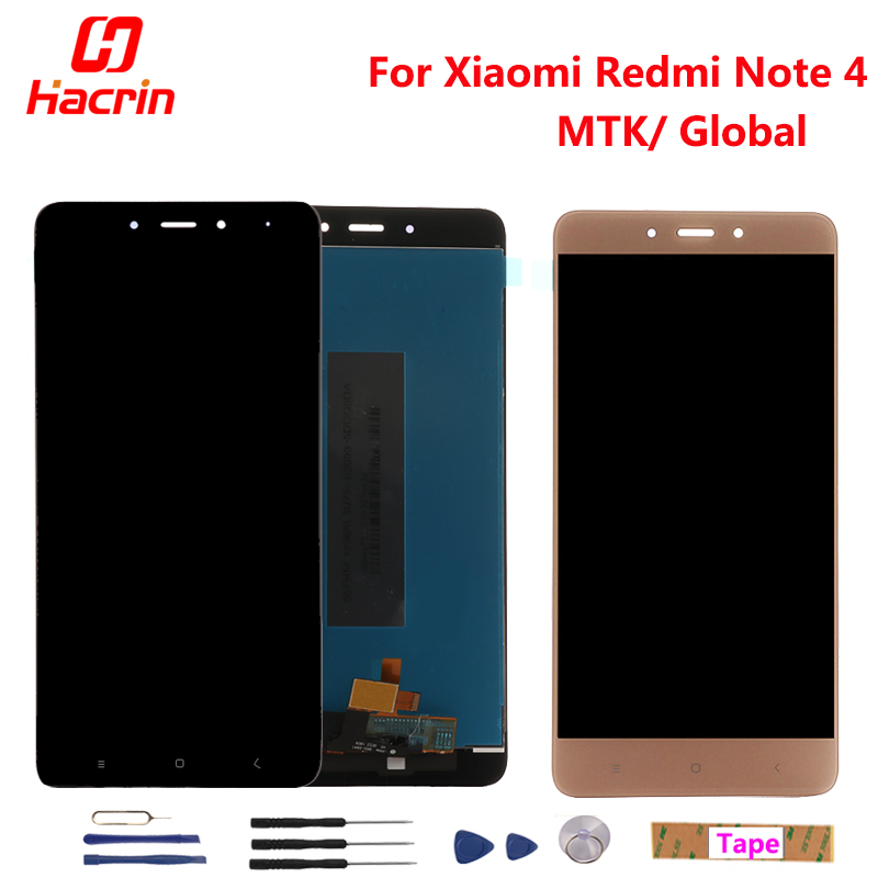 Xiaomi Redmi Note 4 LCD Display Touch Screen Digitizer Assembly Replacement For Redmi Note 4 Pro Prime Global Version