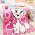 Бесплатная Доставка Губка Боб 100% Ватки Коралла Одеяла Мультфильм Одеяло на Кровати Одеяло Из Микрофибры