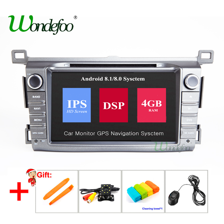 DSP IPS 8 Core 4G 2 Din Android car DVD Multimedia player GPS autoradio For Toyota RAV4 RAV 4 2013-2018 car radio audio stereo