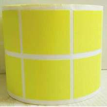 1 Inch Square Fluorescent Yellow Color Coding Dot Labels Colored Circle Stickers Per Roll self-adhesive stationary sticker