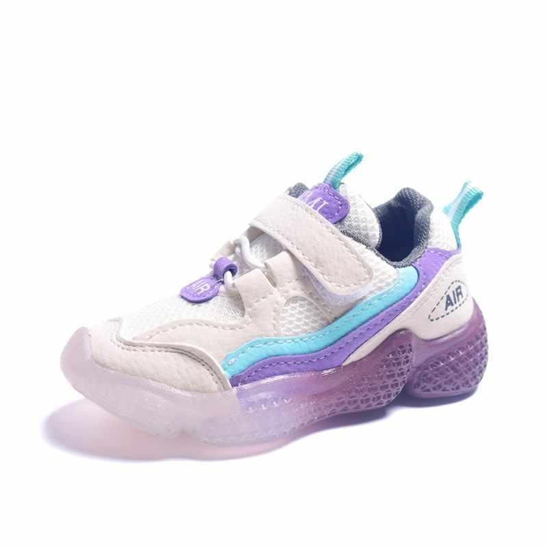 Trẻ Em 2019 Mới Thu Unisex Cổ Trẻ Em Giày Lưới Thể Thao Thời Trang Cho Bé Gái Bé Trai Size 21 -30