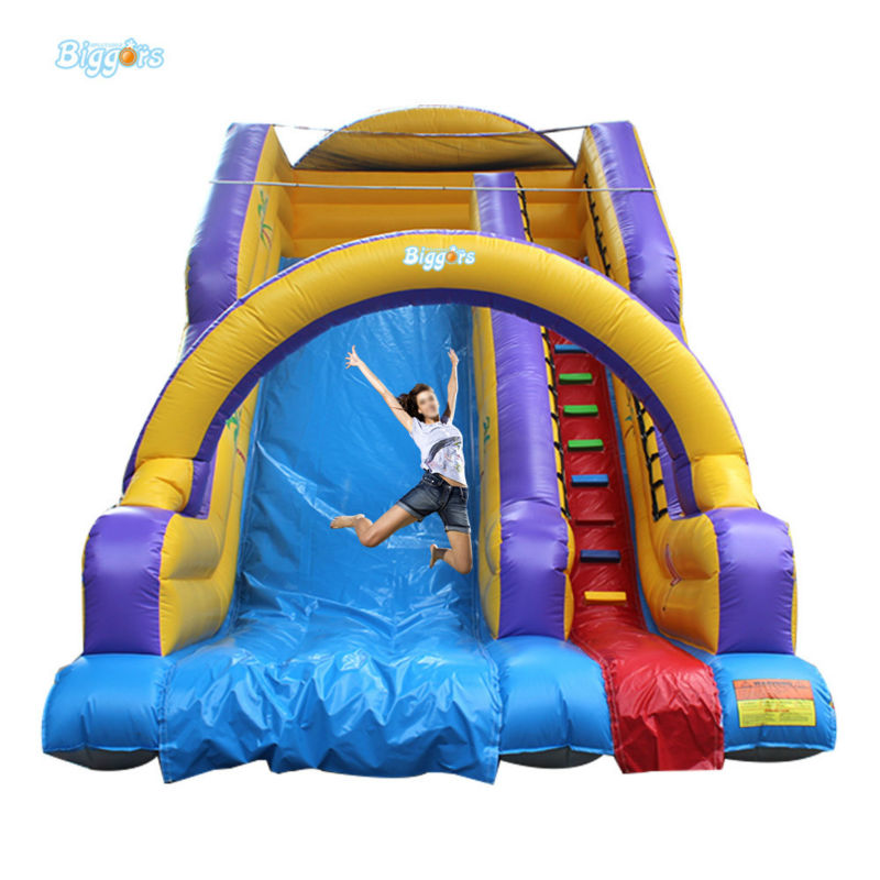 цена Inflatable Biggors Outdoor Sports Games Inflatable Giant Slide With Arch For KIds And Adults