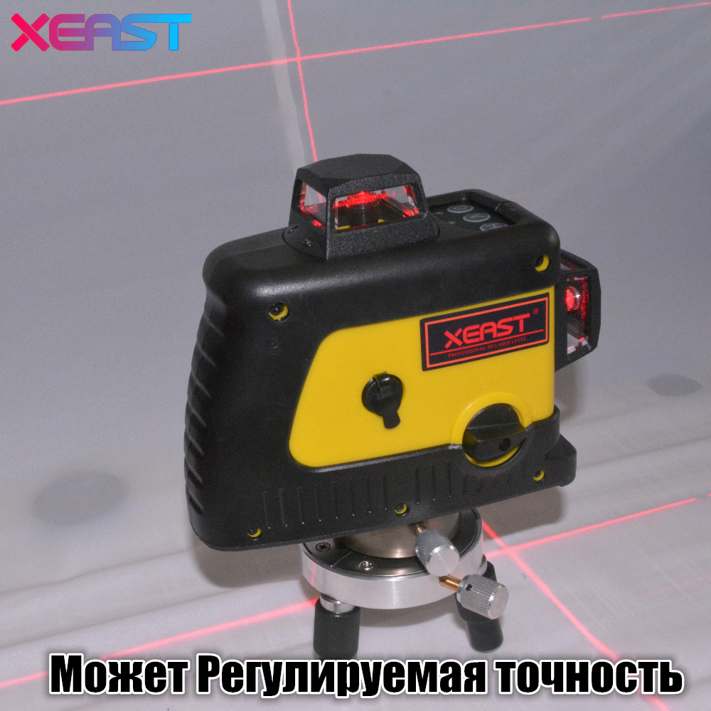 XEAST 12 line laser level 360 Vertical And Horizontal Self-leveling Cross Line 3D Laser Level Red Beam better than Fukuda