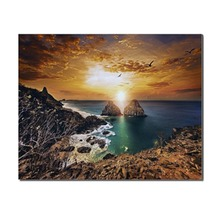 Natural Landscape Sunrise Mountain Posters Prints Wall Art Picture Canvas Painting for Living Room Home Decor