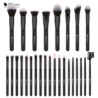 DUcare 27PCS Makeup Brushes Set Foundation Eyeshadow Powder Brush Professional Goat Hair Brushes For Makeup Cosmetic