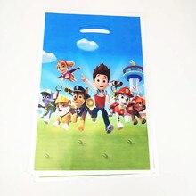 10pcs 16.5*25cm Plastic Gift Bag Puppy Canine Dog Theme Decoration