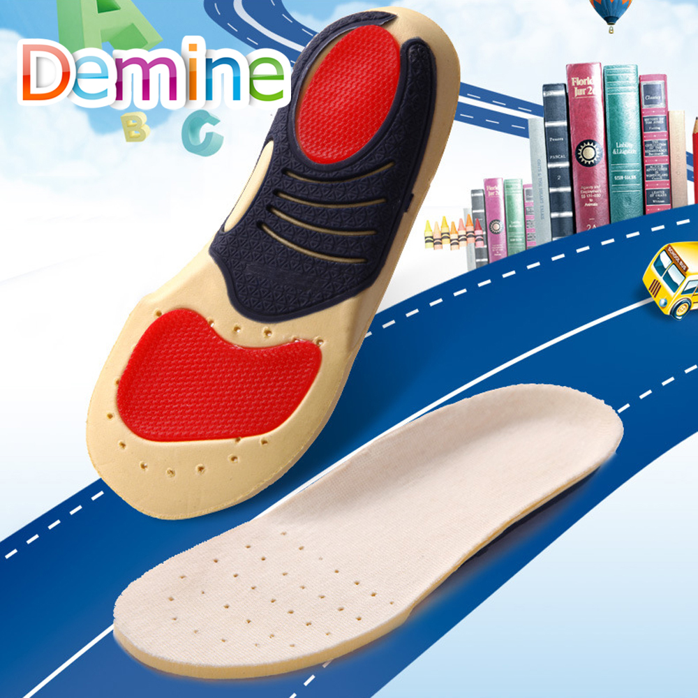 Demine Orthopedic Insoles Children Flat Foot Arch Support Orthotic Pads Correction Breathable Cushion Inserts for Children Kids in Insoles from Shoes