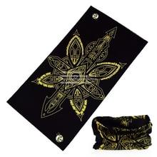 Смешанный оптом черный и желтый цвет велосипедный цилиндрический многофункциональный шарф трубки, бандана-труба оголовье
