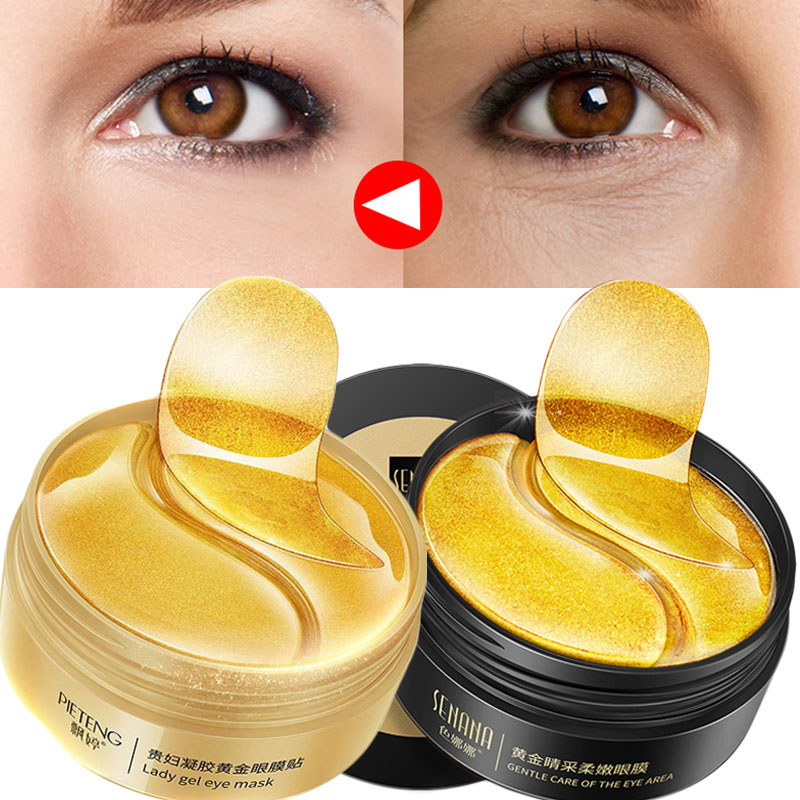 60pcs Moisturizing Crystal Collagen Eye Mask Anti Wrinkle Dark Circle Remove Eye Patches For Eye Lines Repair Eye Pad Anti-Aging