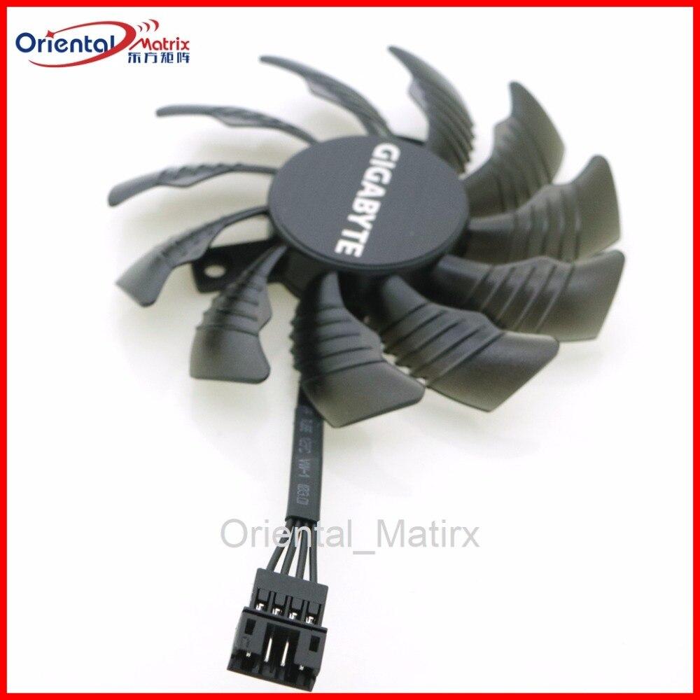 PLD08010S12HH 12 V 0.35A 75mm Broches VGA Ventilateur Pour Gigabyte GTX960 GTX970 GTX980 Carte Graphique Ventilateur De Refroidissement