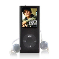 BGreen 16GB MP3 4TH GENERATION SLIM MUSIC MEDIA PLAYER LCD SCREEN FM RECORDER MOVIE VIDEO E