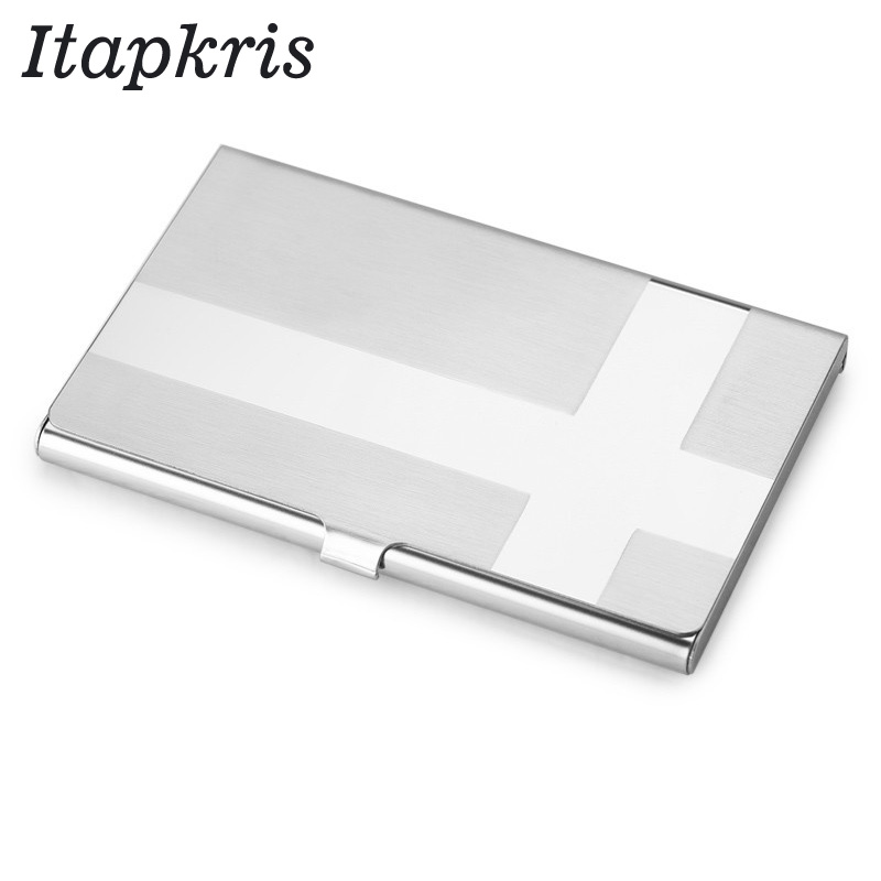 Stainless Steel Business Credit Card Holder Men Women Metallic ID Card Holder Protable Rfid Wallet Porte Carte Blocking Case rfid blocking genuine leather men card holder male credit card case bank id card bag luxury wallet high quality porte carte