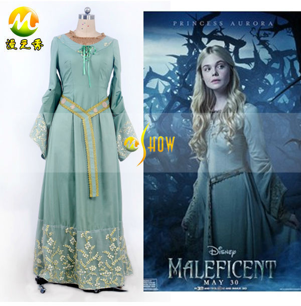 2014 Fairy Tale Maleficent Costume Princess Aurora Dress