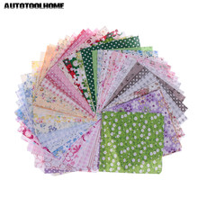 50pcs 10cmx10cm fabric patches stash cotton fabric charm packs patchwork fabric patch quilting hand tool set(China)