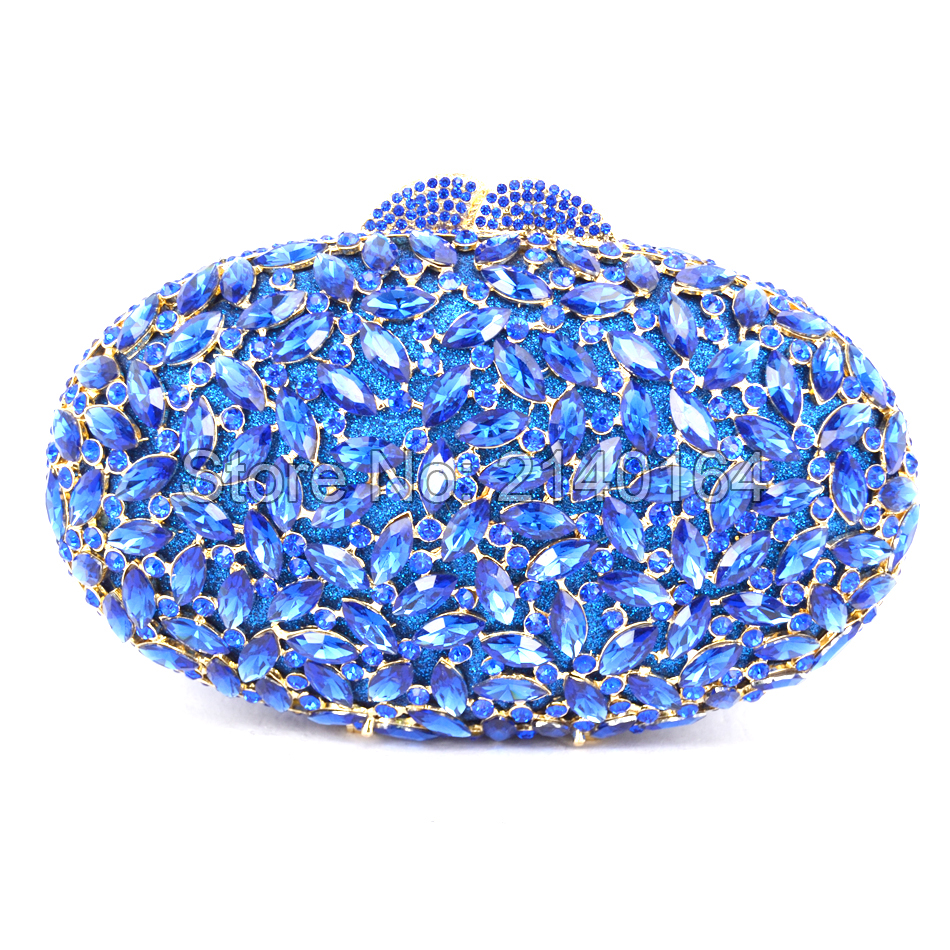 New Design Deluxe Oval Shape Ladies Evening Party Clutches Full Crystals Metal Women Purse Gold Plated evening clutch bags88282 tetris party deluxe