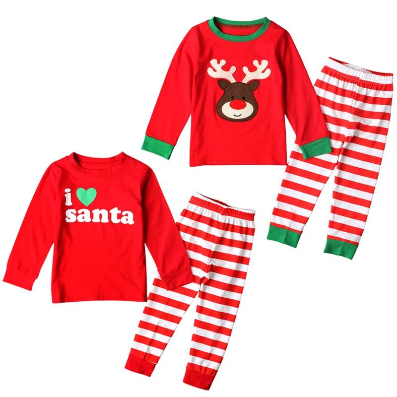 comprar popular 75ca7 0fc07 € 7.41 15% de DESCUENTO Pijamas de Navidad para niños conjunto de pijamas  para niñas de 2 a 7 años ropa de dormir para niños y bebés Conjunto de ...