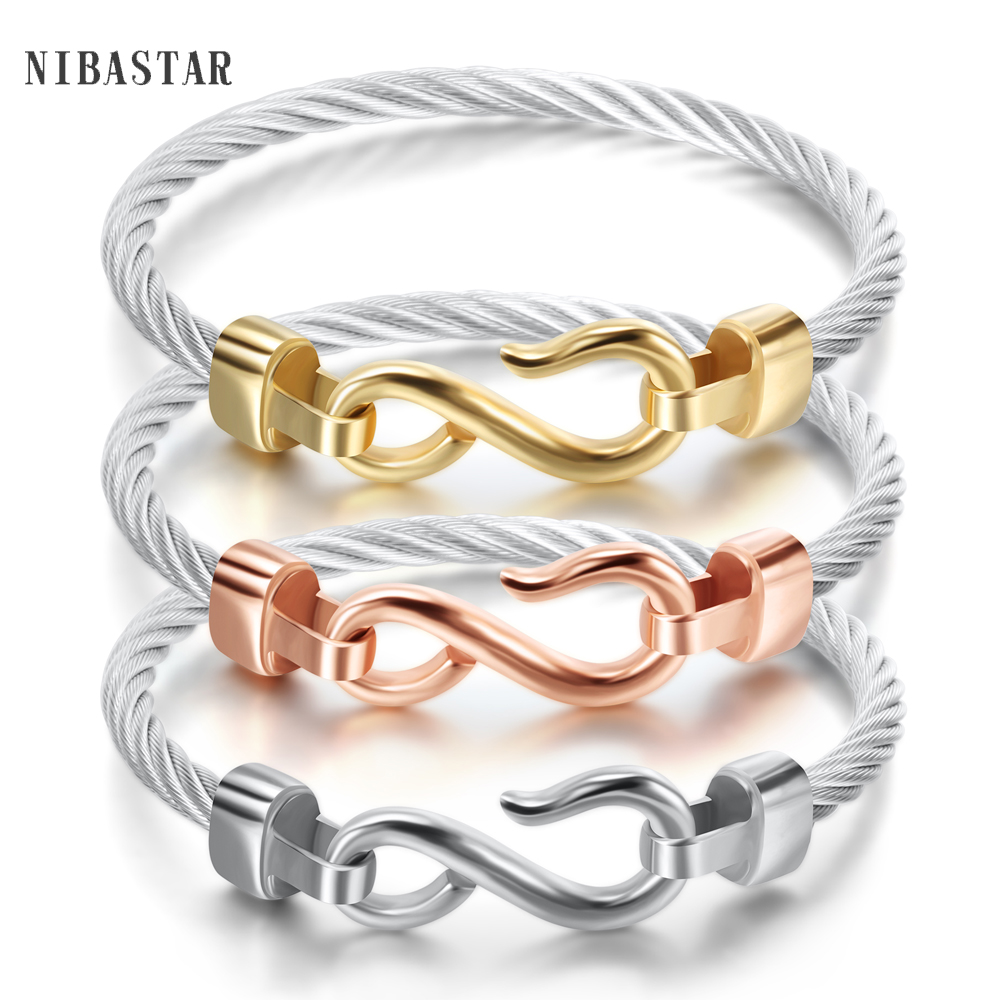 Fashion Charm Bracelets With Stainless steel Hooks Fashion Jewelry Infinity Love Charm Bracelets & Bangles For Women