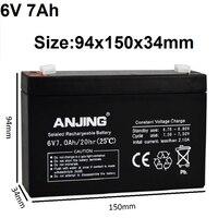 Original 6V 7AH Storage Battery 6V7AH Seal Lead acid Rechargeable Batteries for UPS Backup Power Supply Desk LED Light Child Car