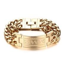 Men's Stainless Steel Bracelet in Greek Style