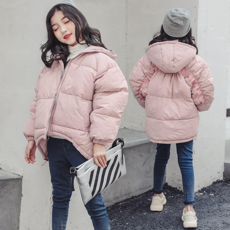 Toddler Girls Winter Jackets 2018 New Fashion Cotton Padded Down Parkas Teenagers 4 5 6 7 8 9 10 11 12 13 14 Y Warm Thick Coat hot man fashion warm parkas size m 3xl patchwork design cotton padded young men winter down jackets parka windproof top quality