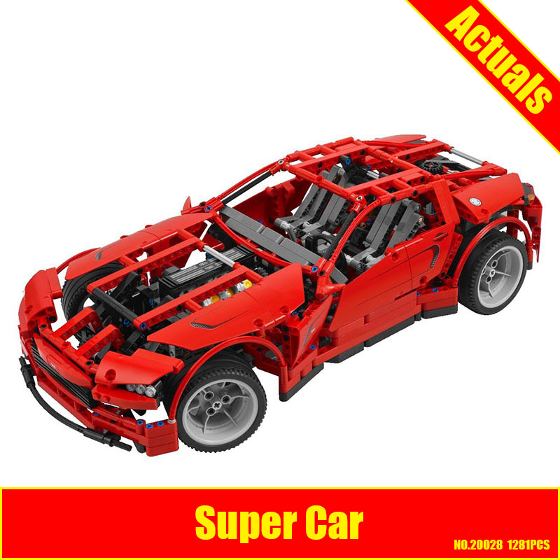 LEPIN 20028 Technic series Super Car assembly toy car model DIY brick building block gift for boy New Year Children Funny 8070 assembly animal puzzle toy set intelligence dinosaurs fossil educational model building block kit for children kid boy hot diy