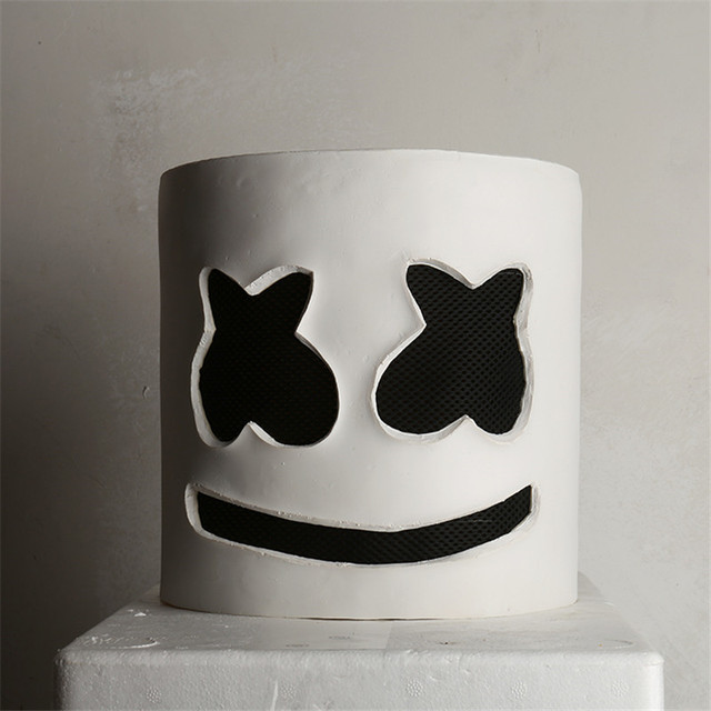 Marshmello Mask Cosplay Costumes DJ Tiesto Mask Music Party Prop Halloween Gift For Adult Men/Women Funny Mask Accessories PVC