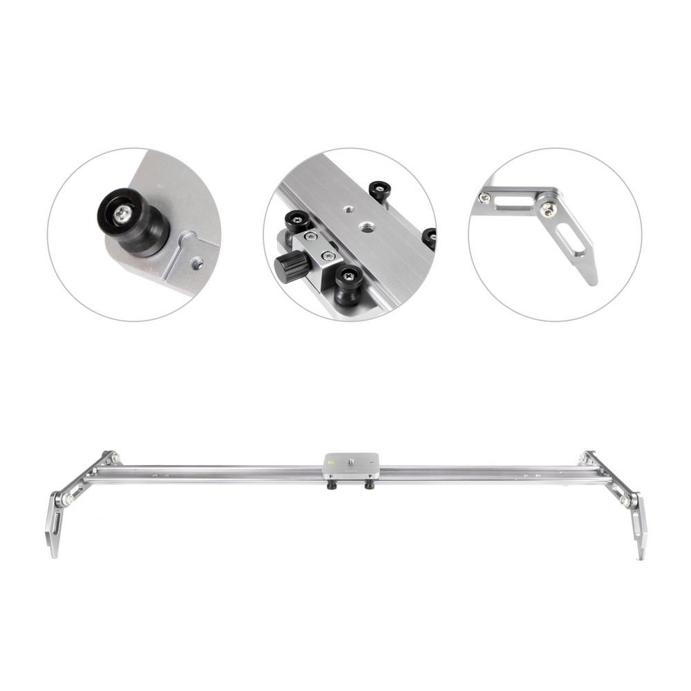 Selens 100 cm/39.37 ''Rail pour caméra En Alliage D'aluminium Amortissement Curseur Piste stabilisateur vidéo Rail Rail traveling pour DSLR ou Caméscope