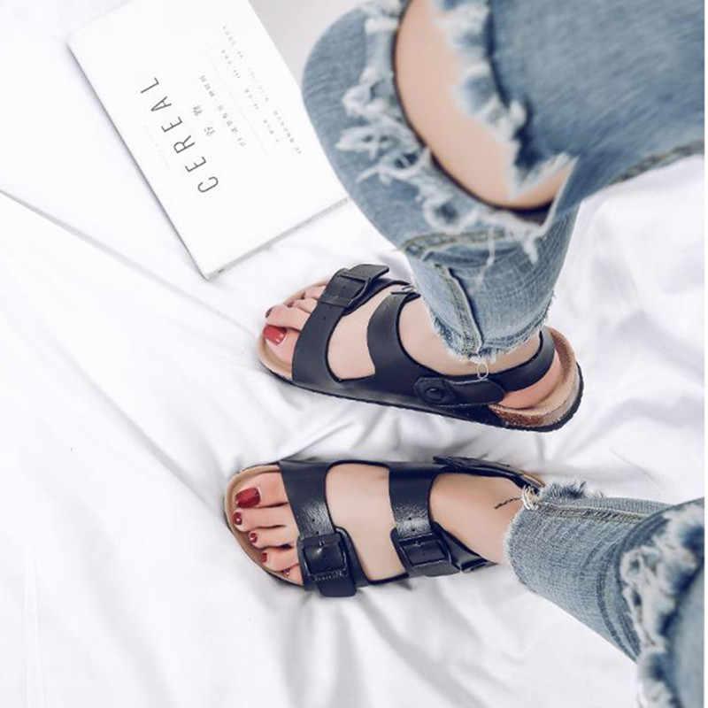 COSMAGIC liquidação Cortiça chinelo Sandálias de verão 2019 As Mulheres Praia Casual Chinelo Sapato