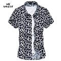 Casual British Style 2016 Summer Men's Cotton Irregular Plaid Loose Short Sleeve Shirts Man Tops Big Size M-5XL/6XL/7XL,YK UNCLE